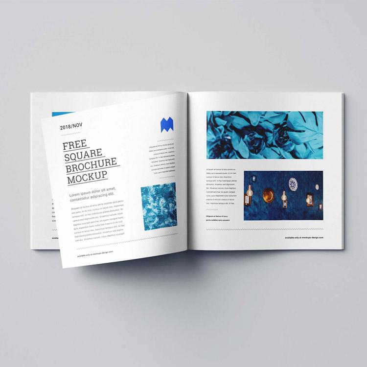 Brochure imprimé au format carré