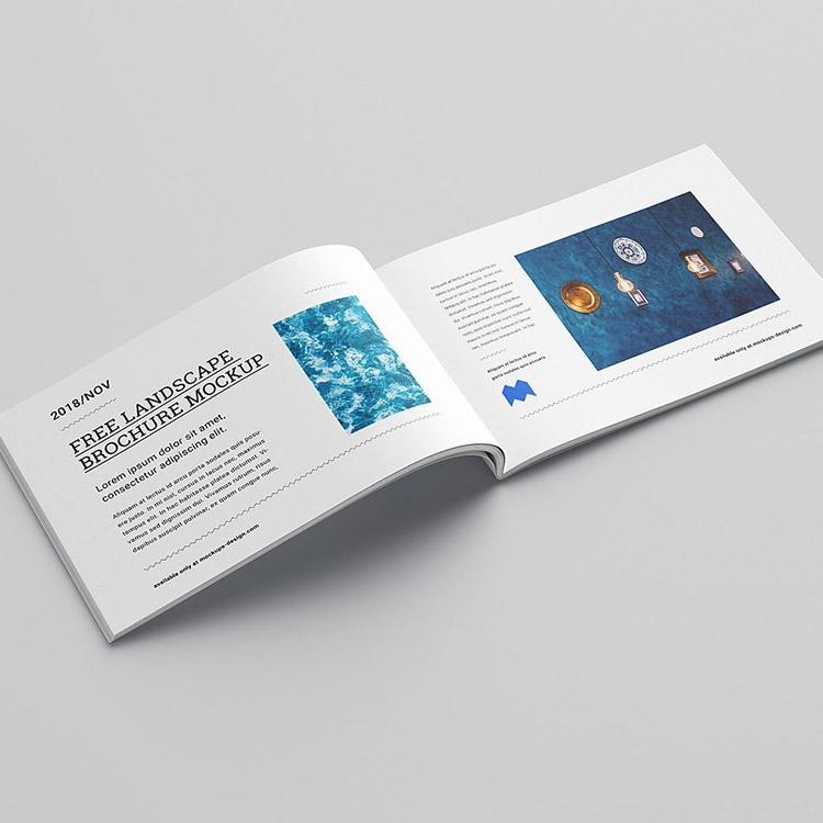 Brochure au format paysage