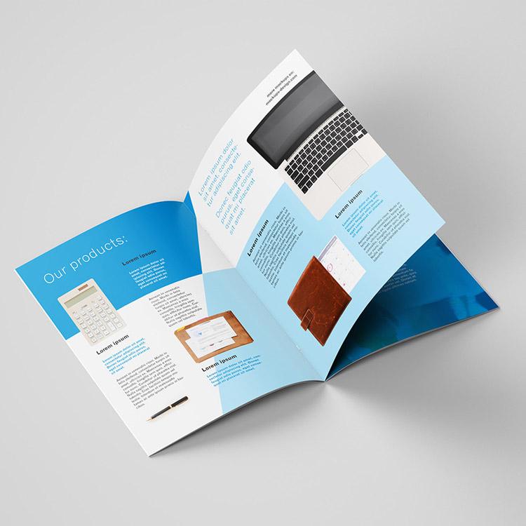 Impression brochures format standard