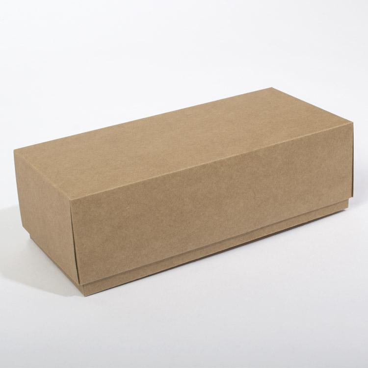Coffret en papier kraft brun