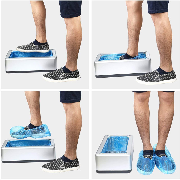 Distributeur automatique de sur-chaussures en plastique