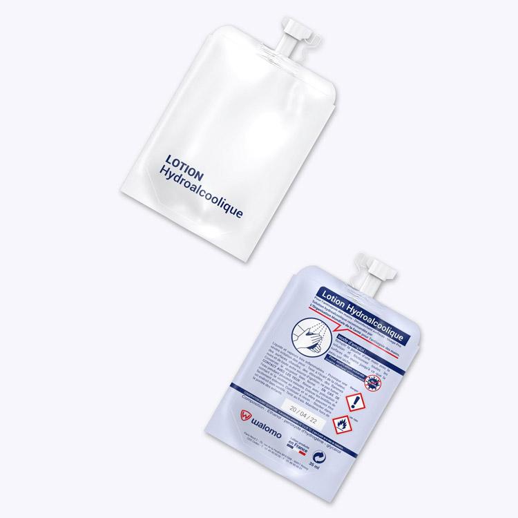 lotion hydroalcoolique en stock - blanc
