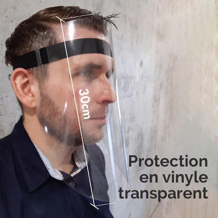 Visière de protection en vinyle transparent