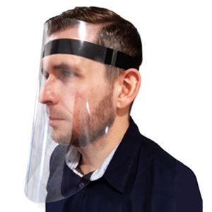 Visière de protection en vinyle flexible