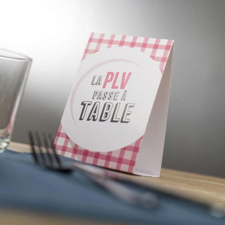 PLV de table imprimée