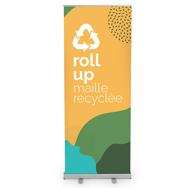 Roll Up visuel maille recyclée