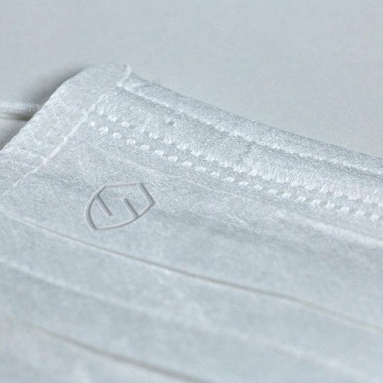 masque de protection avec logo en relief à partir de 25000 pièces