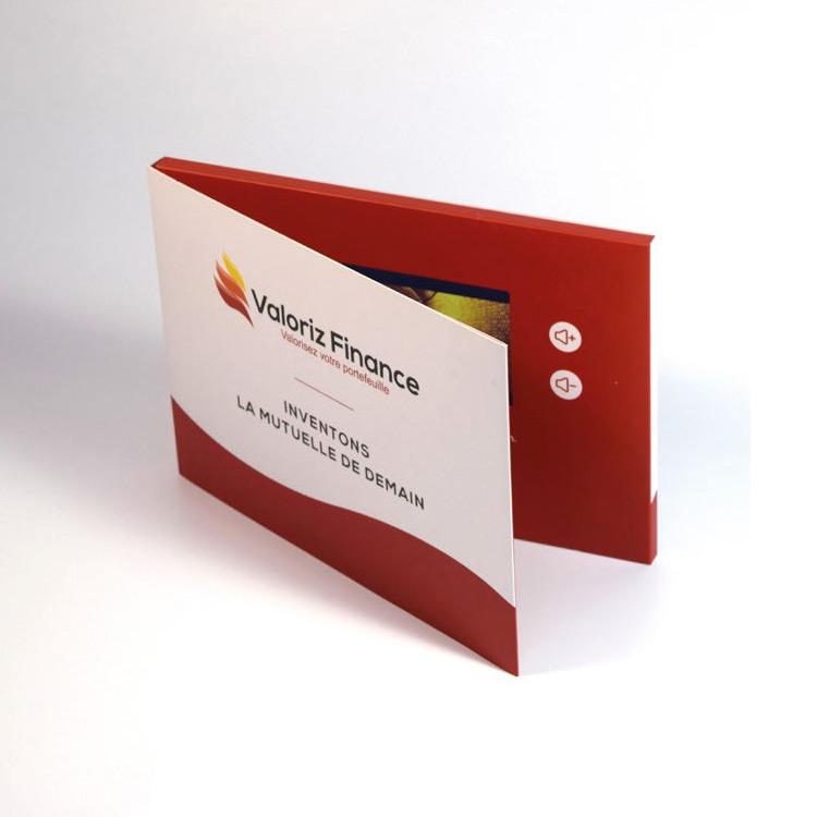 Brochure vidéo avec boutons de commande