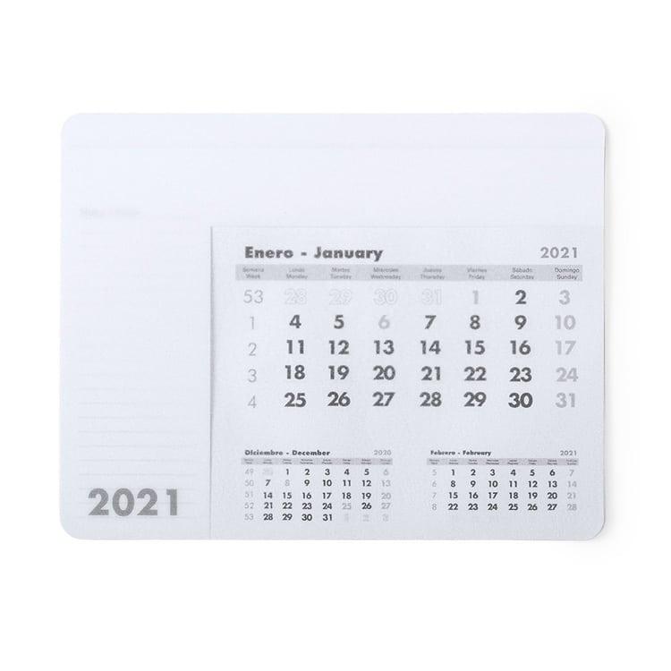 Tapis de souris avec calendrier