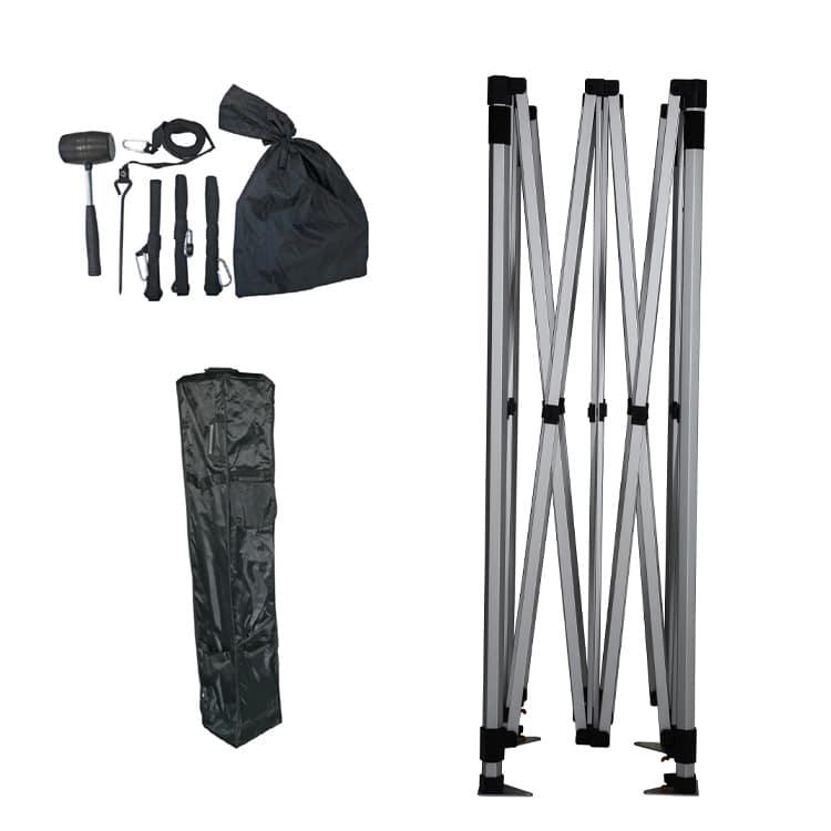 Tente parapluie avec structure pliable, sac de transport, sardines, crodes et maillet
